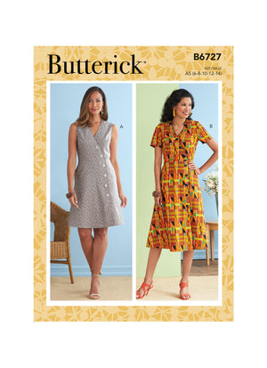 Butterick Sewing Pattern 6727 Misses' Dresses from Jaycotts Sewing Supplies