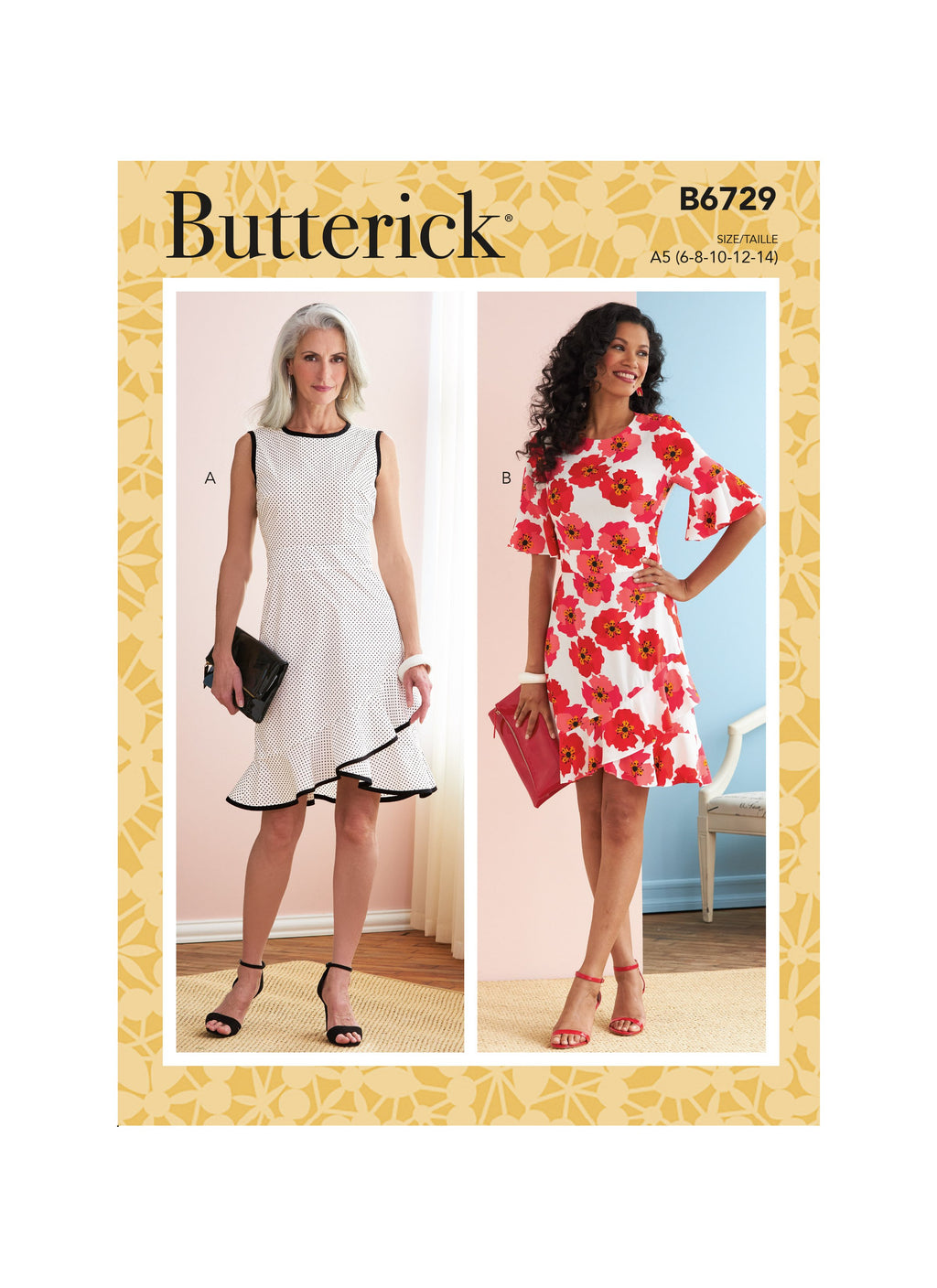 Butterick Sewing Pattern 6729 Misses' Dresses