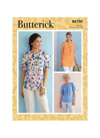 Butterick Sewing Pattern 6730 Misses' Top from Jaycotts Sewing Supplies