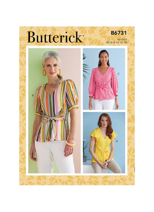 Butterick Sewing Pattern 6731 Misses' Top from Jaycotts Sewing Supplies