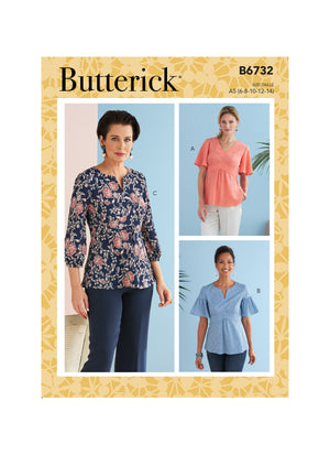 Butterick Sewing Pattern 6732 Misses' Top from Jaycotts Sewing Supplies
