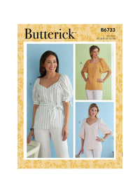 Butterick Sewing Pattern 6733 Misses' Top from Jaycotts Sewing Supplies