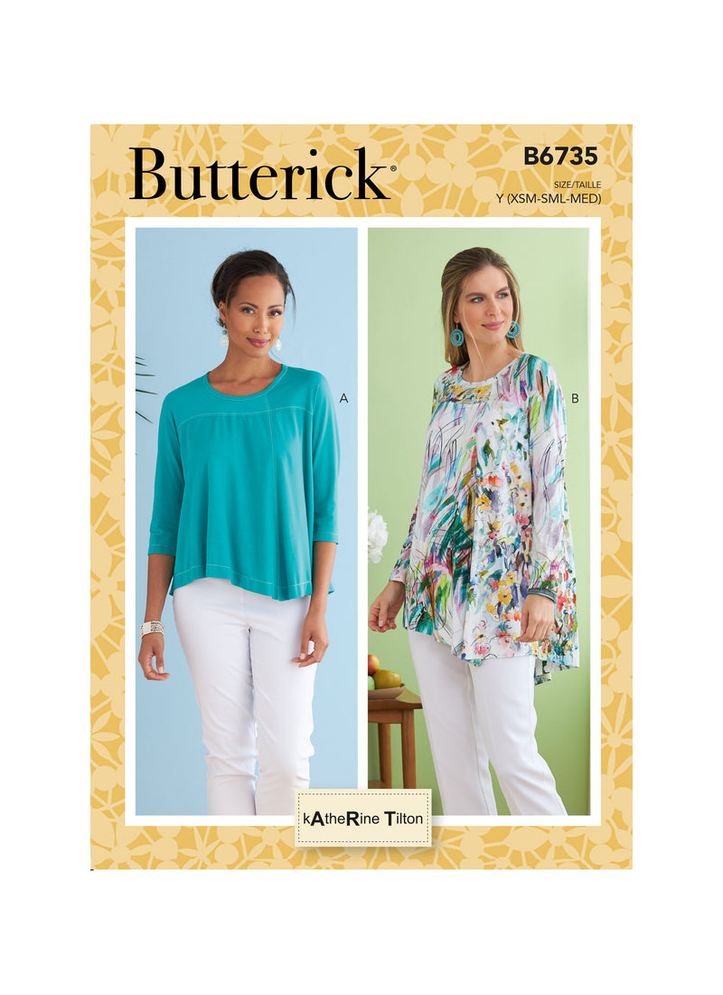Butterick Sewing Pattern 6735 Misses' Top from Jaycotts Sewing Supplies