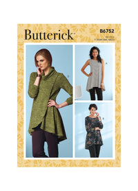 Butterick Sewing Pattern 6752 Misses' Fit and Flare Knit Tunics from Jaycotts Sewing Supplies