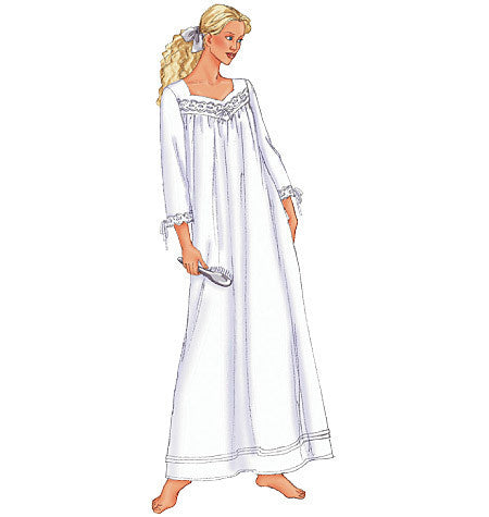 B6838 Misses' Petite Nightgown | Easy