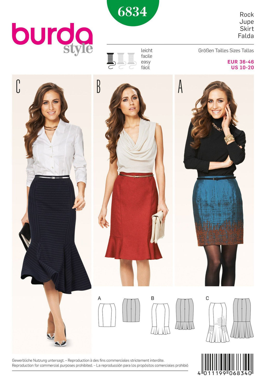 BD6834 Misses Skirt