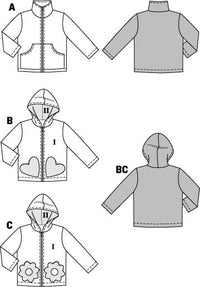 BD9425 Boys' & Girls' Jackets from Jaycotts Sewing Supplies