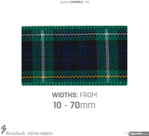 Berisfords Tartan Ribbon: #2 Campbell