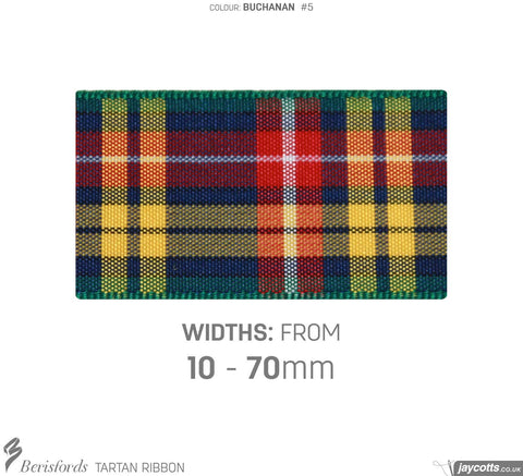 Berisfords Tartan Ribbon: #5 Buchanan