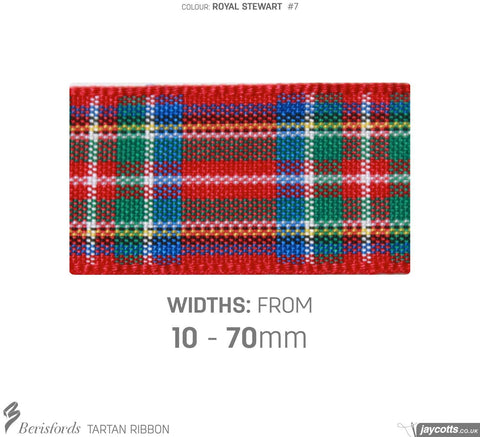 Berisfords Tartan Ribbon: #7 Royal Stewart