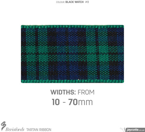 Berisfords Tartan Ribbon: #9 Black Watch