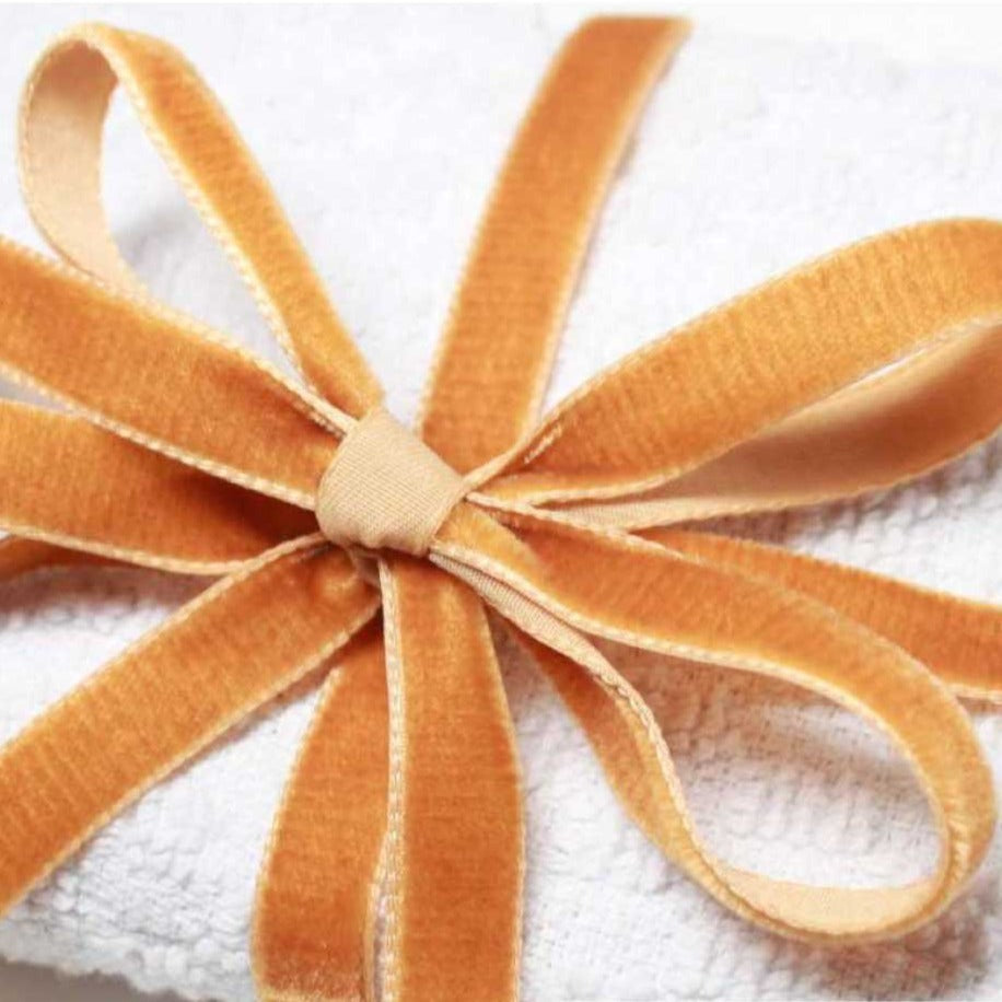 Berisfords Velvet Ribbon (Browns & Yellow) from Jaycotts Sewing Supplies
