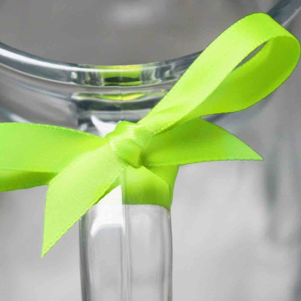 Berisfords Satin Ribbon - Fluorescent Green