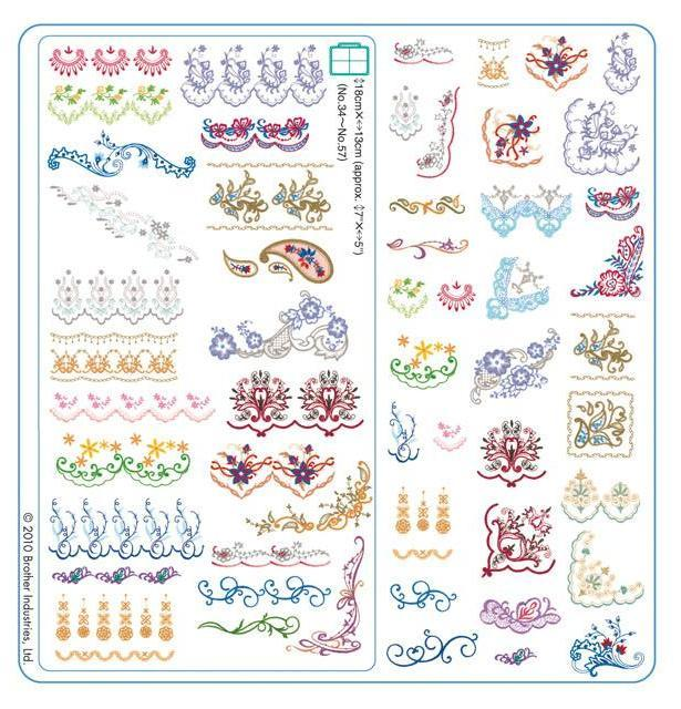 Brother Embroidery USB 002 | Oriental Border from Jaycotts Sewing Supplies