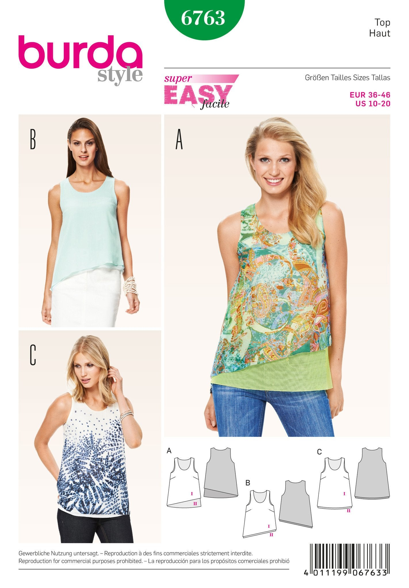 BD6763 Misses Tops | Easy