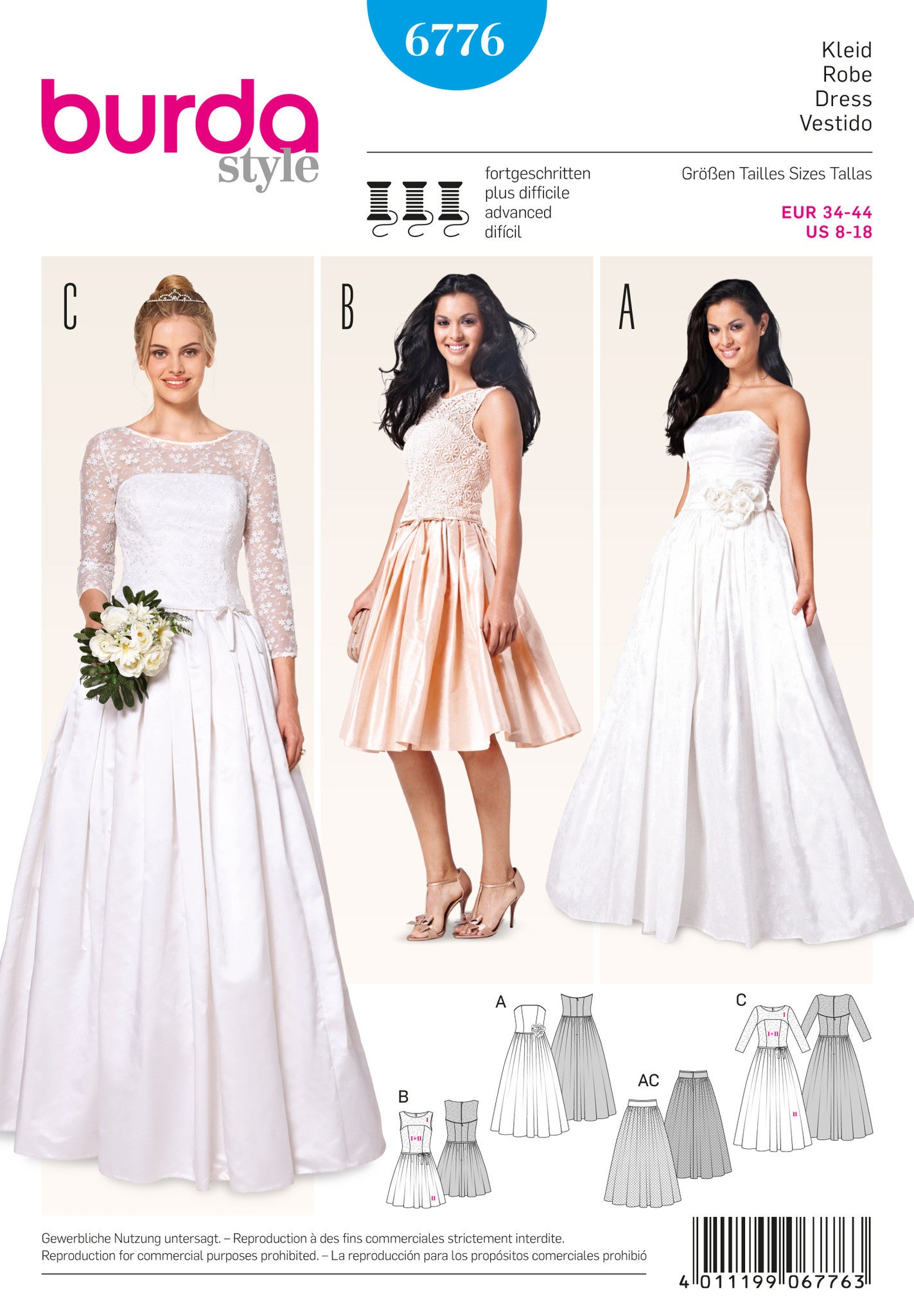 Sewing patterns bridal jaycotts sewing supplies bd6776 misses wedding dress jeuxipadfo Image collections