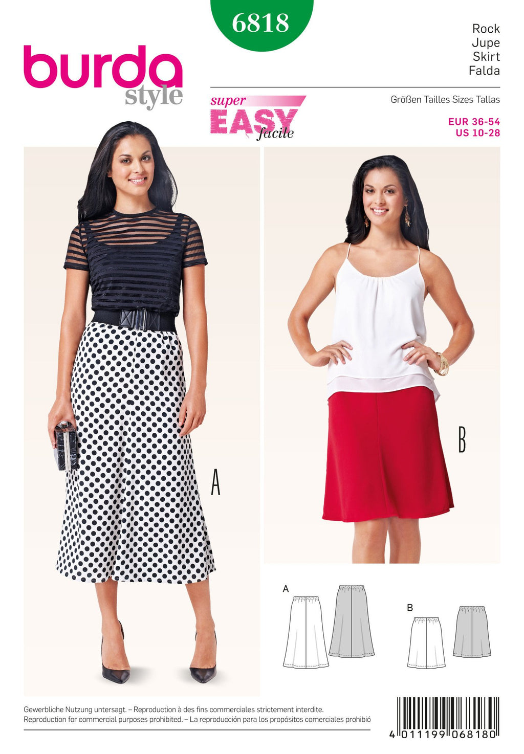 BD6818 Misses Skirts