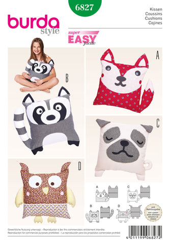 BD6827 Animal Cushions | Easy