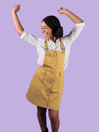 Tilly & The Buttons Bobbi Skirt / Pinafore Pattern from Jaycotts Sewing Supplies