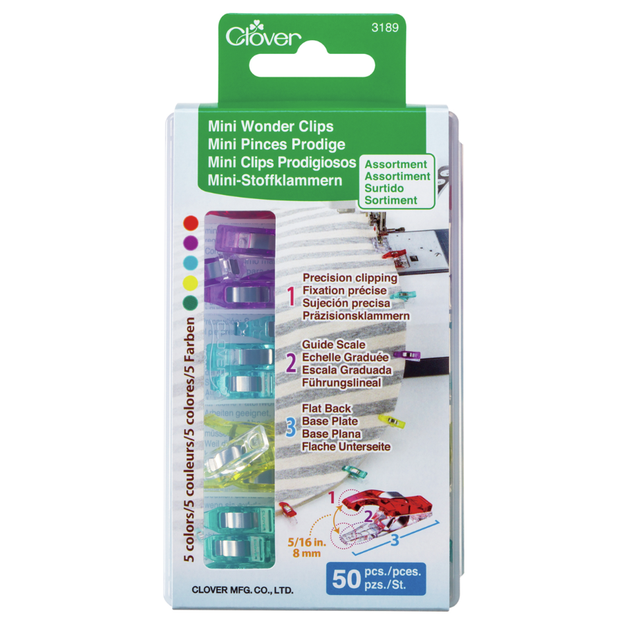Box of 50 Mini Wonder Clips by Clover
