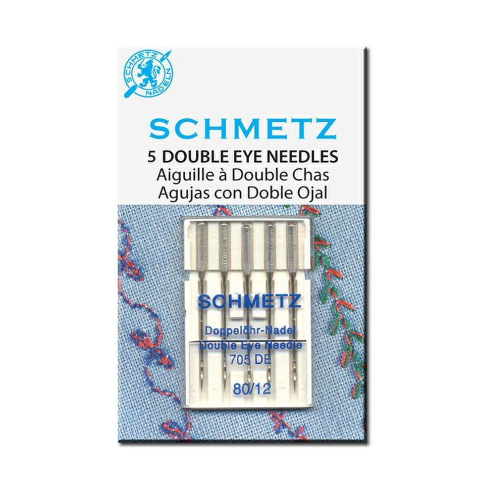 Double Eye Machine Needles | Pack of 5 from Jaycotts Sewing Supplies