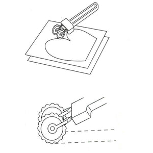 Clover Double Tracing Wheel (Adjustable) from Jaycotts Sewing Supplies