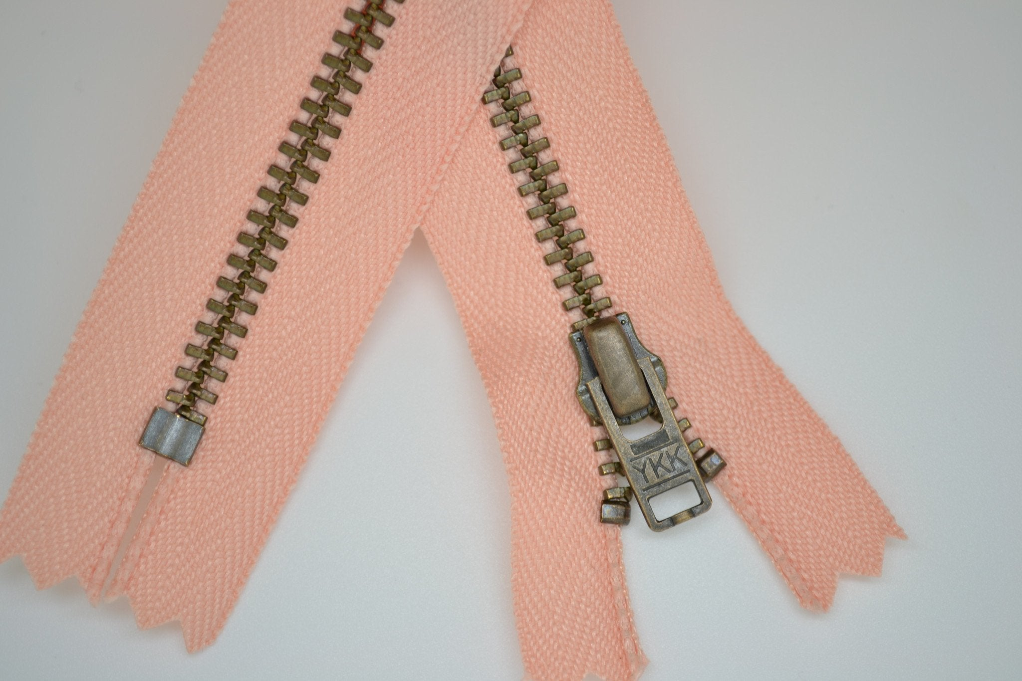 Metal Dress Zip | Antique Brass - PEACH