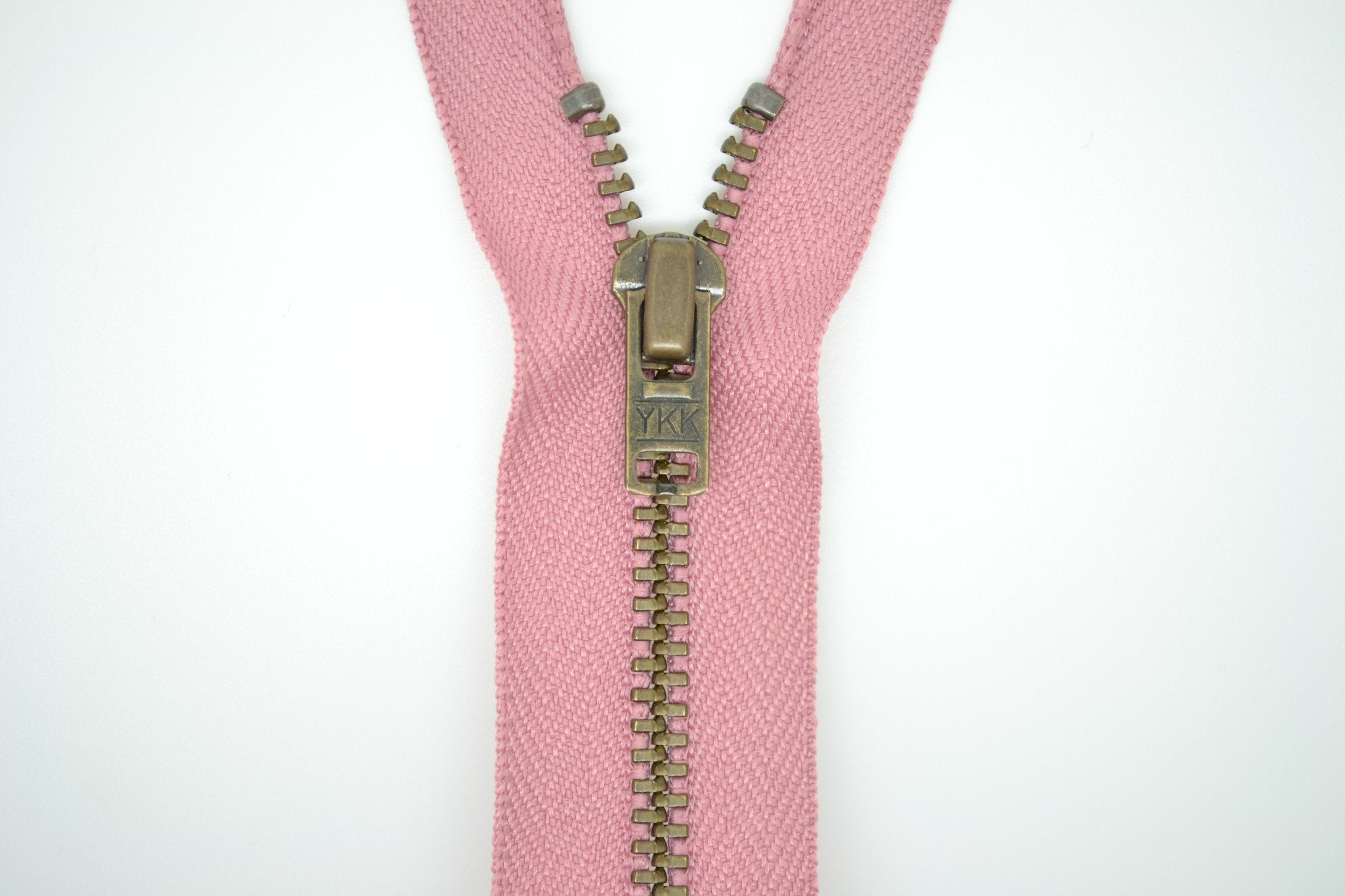Metal Dress Zip | Antique Brass - DUSKY PINK