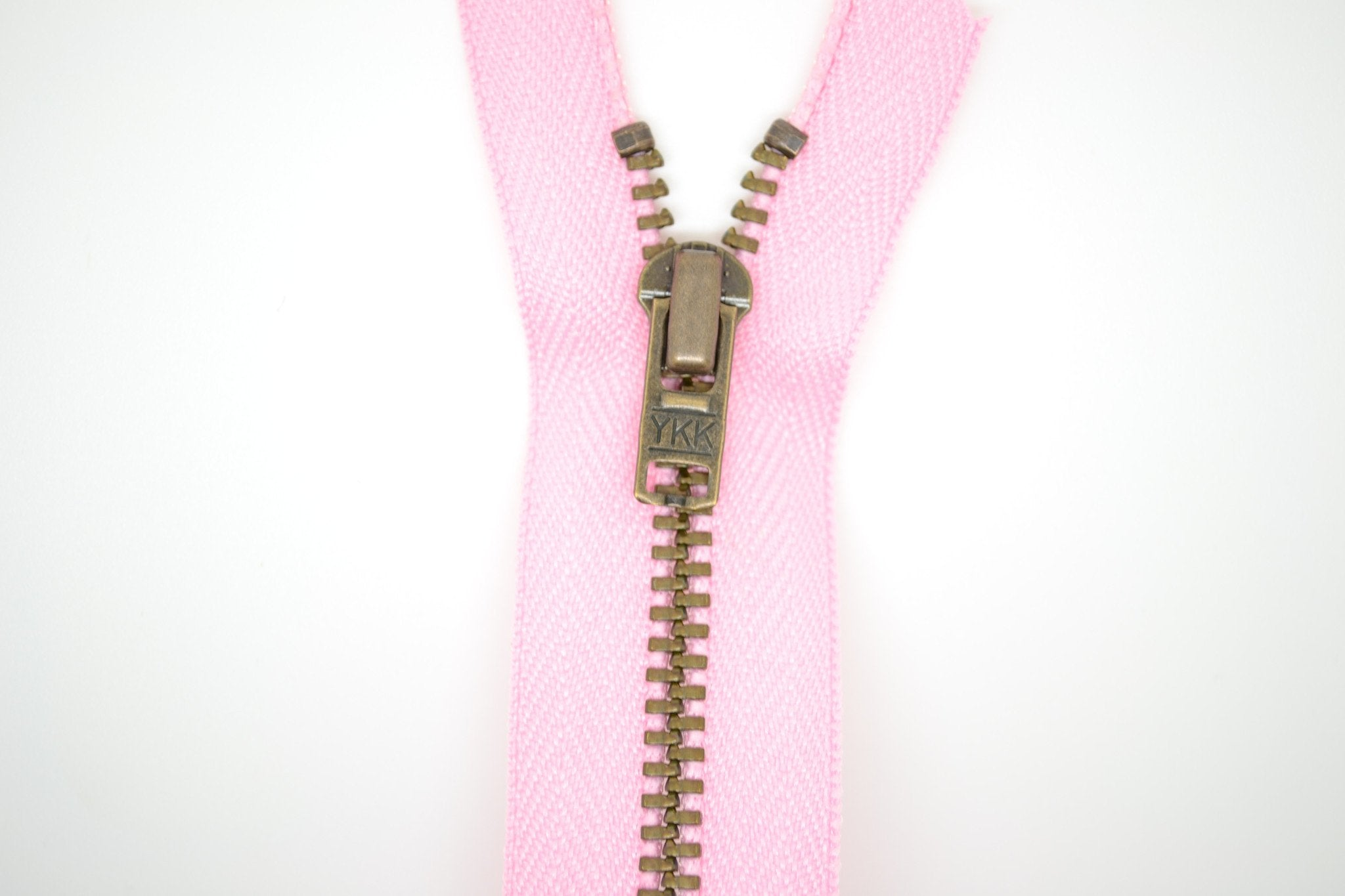 Metal Dress Zip | Antique Brass - PINK