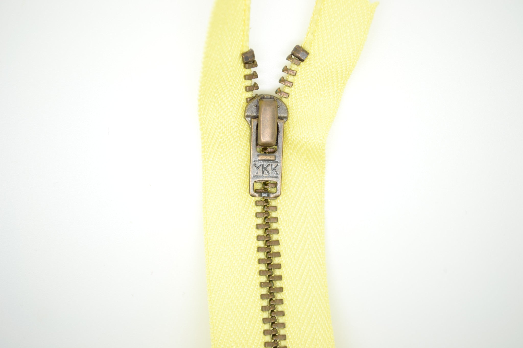 Metal Dress Zip | Antique Brass - Yellow