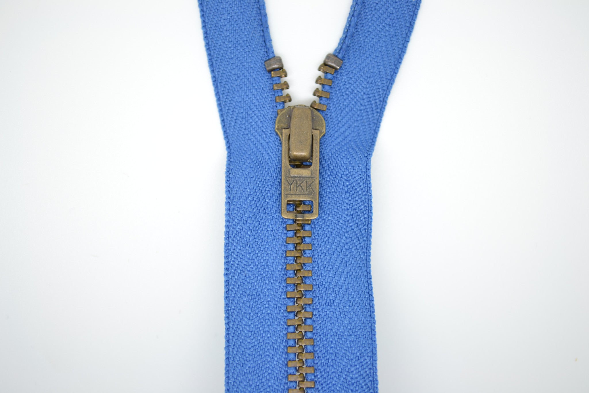 Metal Dress Zip | Antique Brass - SAXE BLUE