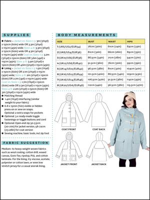 Tilly & The Buttons EDEN COAT Pattern from Jaycotts Sewing Supplies