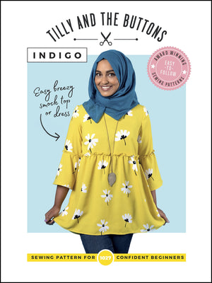 Tilly & The Buttons Indigo Smock Top + Dress Pattern from Jaycotts Sewing Supplies
