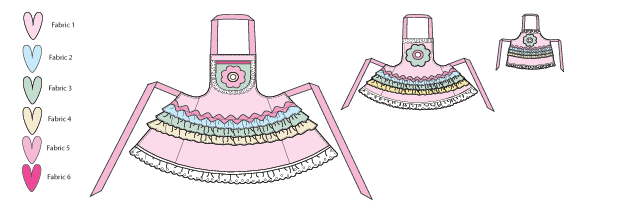 K0136 Misses'/Girls'/Dolls' Aprons