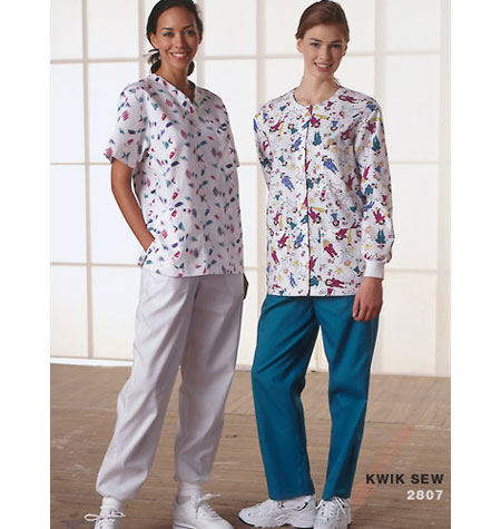 Kwik Sew 2807 Misses' Scrubs Medical Uniform
