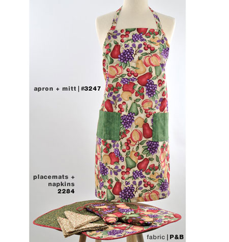 K3247 All Ages Apron & Oven Mitt