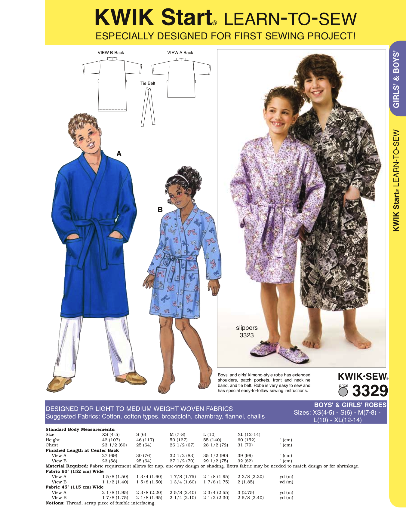 K3329 Childrens' Robe | Easy