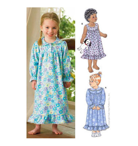 Kwik Sew 3423 Toddlers' Nightgown from Jaycotts Sewing Supplies