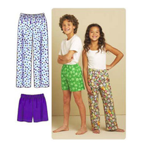 Kwik Sew 3589 Boys' & Girls'  Pyjama Pants & Shorts