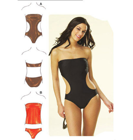Kwik Sew 3608 Misses' Strapless Swimsuit