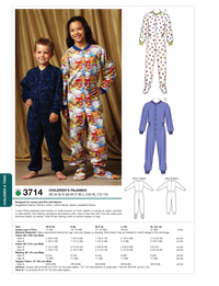 Kwik Sew 3714 Girls' & Boys' Pyjamas