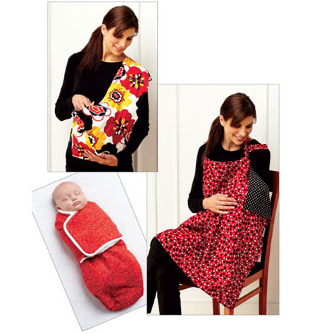 Kwik Sew 3734 Swaddler, Sling Carrier & Nursing Cover from Jaycotts Sewing Supplies
