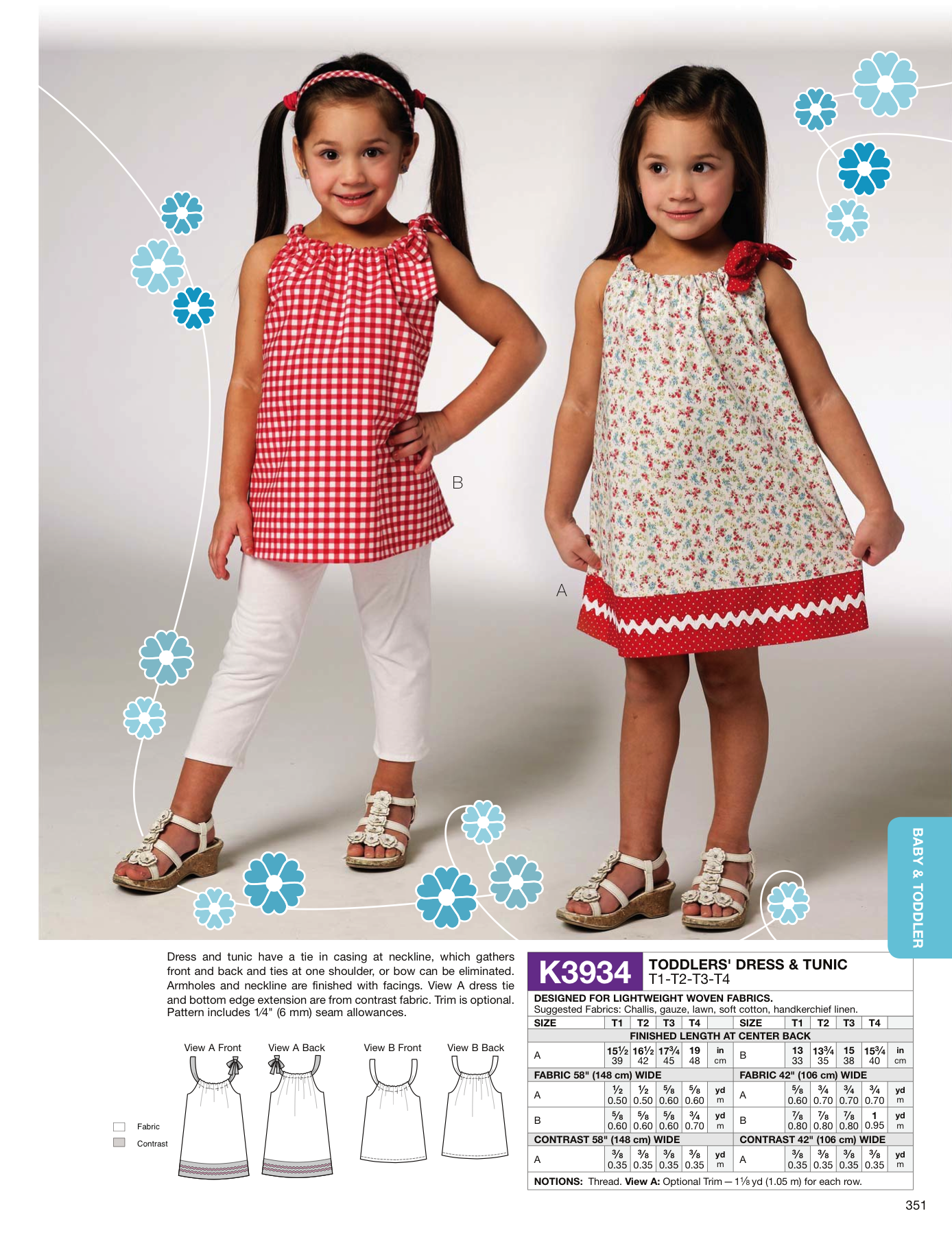 K3934 Toddlers' Dress & Tunic