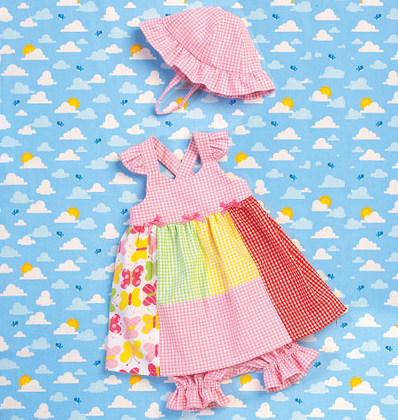 Kwik Sew 0168 Babies Dress, Panties & Hat from Jaycotts Sewing Supplies