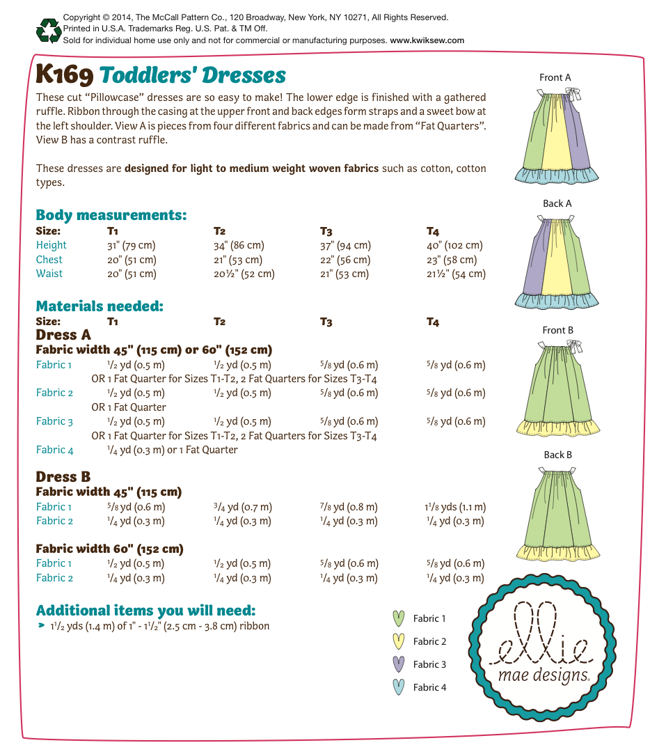 K0169 Toddlers' Dresses
