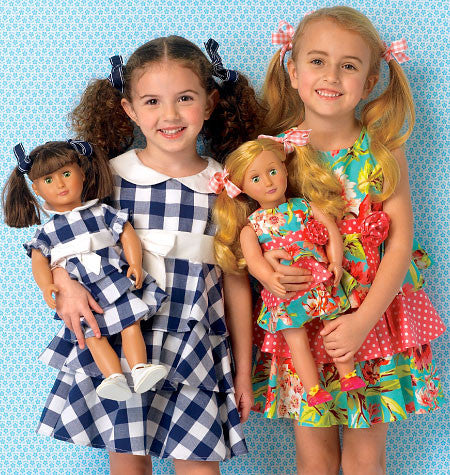 K0193 Children's/Girl's/Doll's Dresses