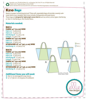 Kwik Sew 0210 Bags from Jaycotts Sewing Supplies