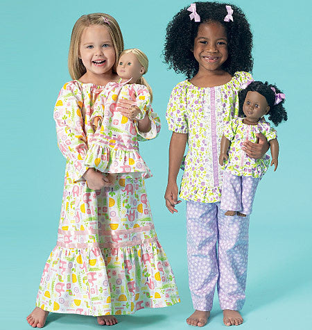 "K0213 Girls'/18"" Dolls' Top, Gown and Pants"