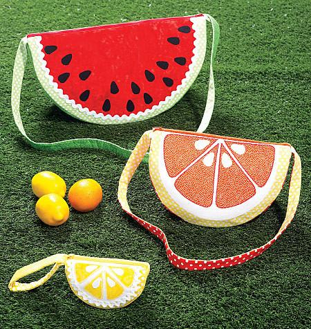 Kwik Sew K0216 Fruit Bags in Three Styles