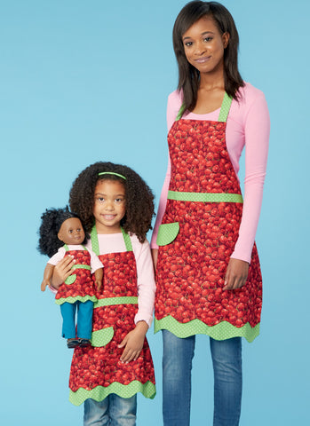 K0255 Misses' and Girls' Aprons Pattern